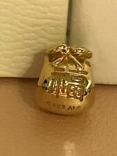 Authentic Pandora 14k Chinese Gold Fortune Money Bag 750990