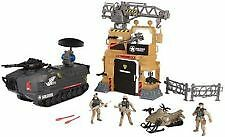 Soldier force base militaire tank camp playset 3 figurines lance-missiles neuf!!!