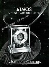1946 Jaeger-LeCoultre Atmos Vit de L'Air du Temps Vintage Swiss Print Ad Advert