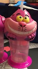 TDL Japan Tokyo Disney Land Cheshire Cat plastic Tumbler Dwarf w Straw Cup Alice