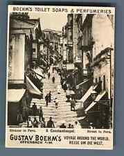 Turkey, Constantinople, Street in Pera  Vintage silver print. Photo from the Ser
