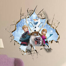 Childrens Room Frozen Elsa Anna Decal Mural Rermovable Art Decor 3D Wall Sticker