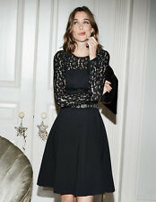 New £99 Boden Selena Lace Ponte black Dress sz UK 18R- free shipping