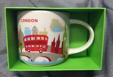 Starbucks London YAH Mug England Bus Big Ben Tower Bridge Cup You Are Here New