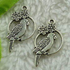 free ship 180 pieces tibet silver bird charms 28x15mm #2615