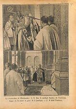 Basilique du Sacré-Cœur de Montmartre Crosse Cardinal Amette 1919 ILLUSTRATION