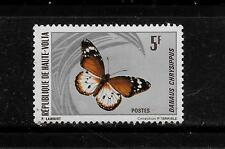 UPPER VOLTA /BURKINO FASO SC #247 MINT-MNH 1971 BUTTERFLY SINGLE STAMP