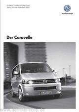 VW Bus T5 - Prospekt Preisliste & T. Daten - Caravelle - 11/10