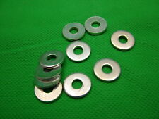 Extra thick flat spacer washers, steel, M5, 2mm thick, pack of 10, zinc plated