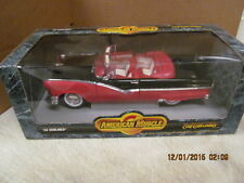 American Muscle 1956 Sunliner (Red/Black) Convertible Die cast Ertl Collectible