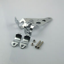 Universal 31-41mm Adjustment Chrome Motorcycle Headlight Brackets Side Mount