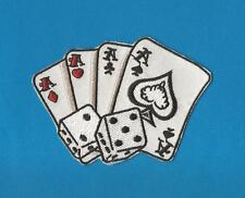 Four Aces & Dice Gambling Las Vegas Iron On Biker Vest Trucker Hat Patch Crest