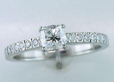 Tiffany & Co. GIA Certified .63ct F-VS1 Diamond Platinum Novo Engagement Ring