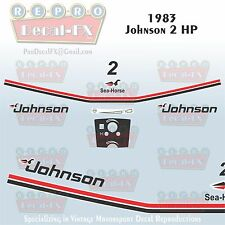 1983 Johnson 2 HP Sea-Horse Outboard Reproduction 10 Pc Marine Vinyl Decals