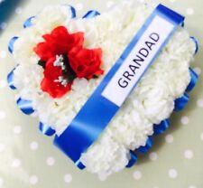 GRANDAD FAUX SILK  FLOWER FUNERAL WREATH TRIBUTE