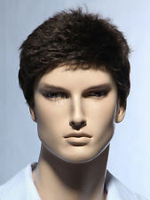 Fashion wig New sexy men short Natural Hair Black Wigs