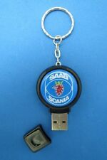 SAAB SCANIA LOGO 2GB THUMB DRIVE KEYRING KEY RING CHAIN #220