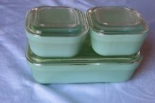 FIRE KING JADEITE REFRIGERATOR DISHES COMPLETE SET.....OLD