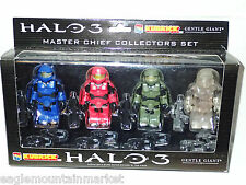 Halo 3 KUBRICK MASTER CHIEF FIGURES BLUE RED GREEN CLEAR STEALTH VERSION