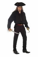Adult Black Pirate Pants Swashbuckler Renaissance Musketeer Adult Size Standard