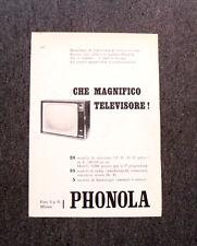 M124- Advertising Pubblicità -1960- PHONOLA CHE MAGNIFICO TELEVISORE