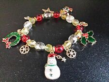 Christmas Occasion Charm Party Flex Bracelet + Velvet Pouch