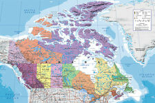 Map of Canada Maxi size 91.5x61cm Poster Education Aid New