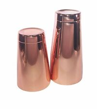 Copper Pro Boston Cocktail Shaker 28oz Tin and Copper 18oz Tin Set Bartender