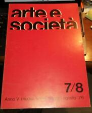 arte e societa'-anno v(nuova serie)-maggio-agosto 1976-boille-dorazio-griffa