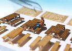 Miniature Picnic table, bench KIT HO OO scale model camping diorama scenery 1:87