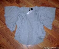 FULL TILT ~ New NWT Size S ~ Flutter Sleeve Opne Front Cardie Topper Shirt