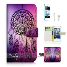 iPod Touch iTouch 5 Print Flip Wallet Case Cover! Dream Catcher P0420