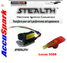 Stealth Electronic ignition, Rover V8 for Lucas 35D8 Distributor+Red Rotor arm
