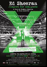 "POSTER LOCANDINA  ED SHEERAN JUMPERS FOR GOALPOSTS ""Evento Speciale rare """