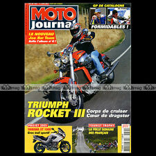 MOTO JOURNAL N°1621 YAMAHA YZ 125 250 TRIUMPH 2300 ROCKET 3 TOURIST TROPHY 2004