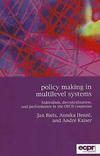Policy Making in Multilevel Systems (ECPR Monographs), Kaiser, André, New Book