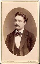 C.L. Stephan CDV photo Herrenportrait - Glauchau um 1880