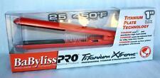 "BABYLISS PRO 450° TITANIUM XTREME Orange 1"" FLAT IRON EXTREME HAIR STRAIGHTENER"