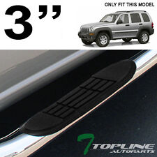 "3"" TUBE CHROME STEEL SIDE STEP NERF BAR RUNNING BOARDS JL 2002-2007 JEEP LIBERTY"
