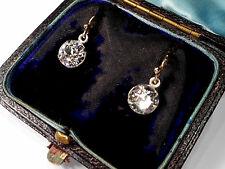 VICTORIAN PASTE EARRINGS ... 9CT WIRES