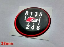 Audi S line 3D Sticker  6 speed pattern