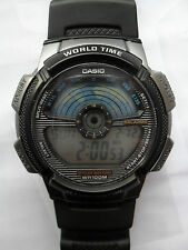 CASIO AE 1100W WORLD TIME DIGITAL WATCH ALARM CHRONO LIGHT STOPWATCH WRISTWATCH