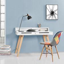 [en.casa]® Retro Schreibtisch + Stuhl Patchwork Computertisch Büro Tisch Konsole
