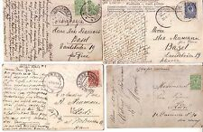 RUSSIA / POLAND - 1910/1911 LOT OF 4 POSTCARDS NICE CANCELS