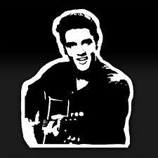 Elvis Presley King of Rock and Roll Music Car Bumper Guitar Decal Sticker