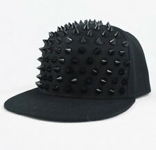New Unisex Punk Hip-hop Cap Rapper Hat Rivets Spikes Spiky Studded Baseball Cap