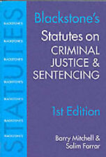 Acceptable, Blackstone's Statutes on Criminal Justice and Sentencing (Blackstone