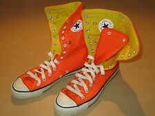 VTG Converse All Star Chuck Taylor Orange Yellow Roll Fold Down Shoes Mens 8.5