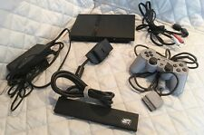 PS2 Slim - Playstation 2 AND Controller + Extender + Cords - USED TESTED WORKING