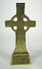 Celtic Cross Freestanding Extra Large Brass 6 Inch Ireland Liffey Irish Box Gift